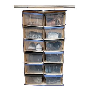 Hanging closet & Shoe Box Organizer
